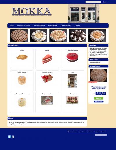 Schermafbeelding van de website van Mokka Sassenheim